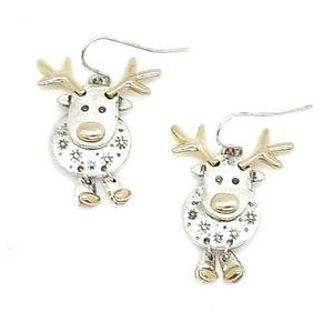 Reindeer Novelty Dangle Christmas Earrings